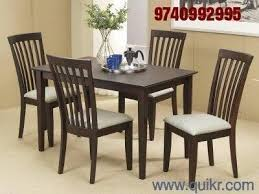 Used Dining Tables Online In India Home Office Furniture In India - Teak dining table and chairs india