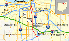 Lakewood Ohio Map by Ohio State Route 176 Wikipedia