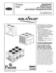 30rap aquasnap carrier commercial pdf catalogue technical
