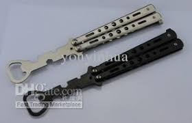 butterfly comb metal practice balisong butterfly comb knife trainer tool open