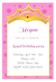 a little princess free printable birthday invitation template