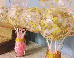 navy blush and rose gold balloons balloon bouquet bundle