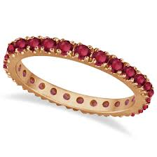 ruby eternity ring ruby eternity band stackable ring 14k gold 0 50ct allurez