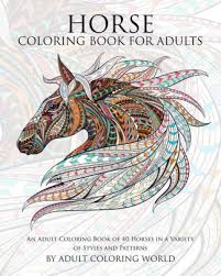 horse coloring book adults coloring book 40
