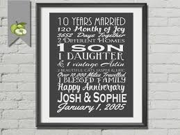 10th anniversary gift ideas 10th anniversary gift tenth anniversary gift husband ten