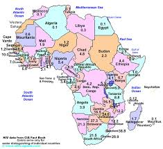 map of africa with country names deconstructing hiv aids in sub saharan africa and the caribbean