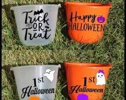 personalized halloween buckets etsy uk