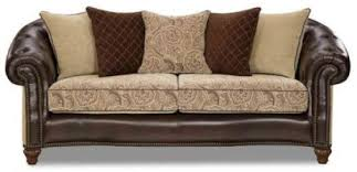 Mixing Leather And Fabric Sofas by Design Dilemma The Black Leather Sofa The Decorator