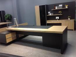 L Office Desk Mfc Modern Executive Desk L Shaped Office Desk Table Top Glass