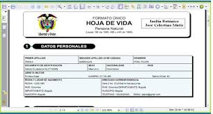 formato hoja de vida 2016 colombia donde descargar los documentos requeridos para mi hoja de vida bcabja