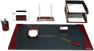 Burgundy Desk Pad Desk Leather Desk Organizer Set India Leather Desk Organizer