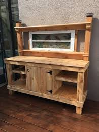 Free Wooden Potting Bench Plans by Diy Built To Last Potting Bench Free Plans At Http