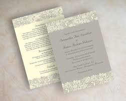 lace invitations wedding invitations with lace casadebormela