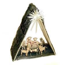 center straw nativity set szopka 12