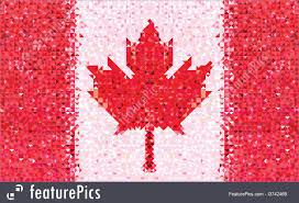 Flag Triangle Illustration Of Canada Flag