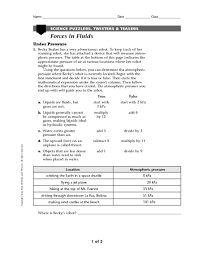 printables force and motion worksheets 5th grade ronleyba