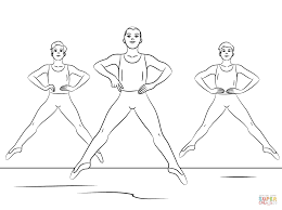 boy ballet coloring free printable coloring pages