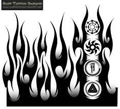 gallery for u003e flame tattoo stencils ink me pinterest flame