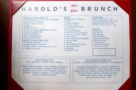 Menu For Hometown Buffet by Tribeca Citizen First Impressions Harold U0027s Meat Three