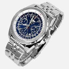 bentley motors speed by breitling breitling for bentley motors special blue dial edition a25362