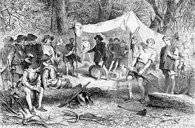 illustration of settlers at jamestown virginia pictures getty