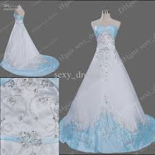 discount new arrivals sweetheart neckline satin ivory and blue
