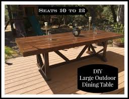 large patio dining table outdoorlivingdecor