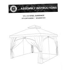 Patio Gazebo Replacement Covers by Patios Garden Winds Gazebo Garden Winds Canopy Arrow Gazebo