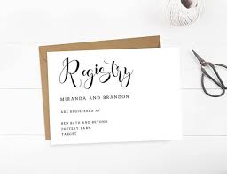 wedding registry cards baby registry card gift registry card