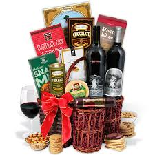 wine and gift baskets silver oak duo wine gift basket by gourmetgiftbaskets