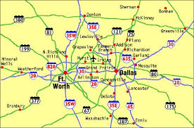 map of dallas fort worth map showing the location of dallas fort worth international