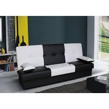 canap clic clac noir clic clac bi color junon noir et blanc achat vente clic clac