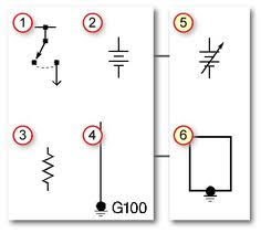 these are some common electrical symbols used in automotive wire