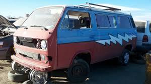 minivan volkswagen hippie junkyard find 1983 volkswagen vanagon steal your face edition
