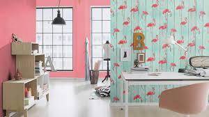 Schlafzimmer Mit Holz Tapete Tapete Barbara Becker B B Flamingo Holz Türkis 479706