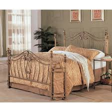 queen size metal bed with headboard u0026 footboard in antique brushed