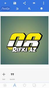 gambar desain nomer racing cara membuat nomor start rifki achmad