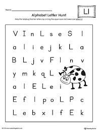 alphabet letter hunt letter l worksheet myteachingstation com