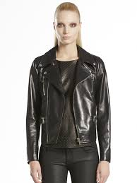 womens motorcycle apparel gucci shiny calf leather motorcycle jacket in black lyst