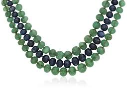sapphire bead necklace images Emerald and sapphire bead necklace with diamond and sapphire clasp jpg