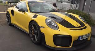 yellow porsche porsche 911 gt2 rs looks even better in yellow