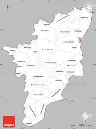 tamil nadu map gray simple map of tamil nadu cropped outside