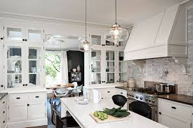 10 Beautiful Kitchens With Glass Cabinets Glass Pendant Lights For Kitchen Island Kitchen Design