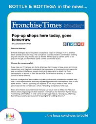 Chicago Shopping Map by Bottle U0026 Bottega Featured In Franchise Times