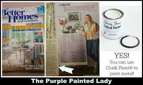 can you paint metal with chalk paint by annie sloan the purple