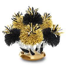 black and gold gala centerpiece wanderfuls