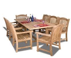 9 Pc Patio Dining Set by 9 Pc Luxurious Grade A Teak Dining Set Teak Patio Furniture World