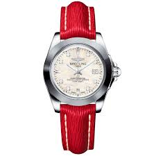 breitling bentley diamond breitling galactic 32 sleek edition diamond dial u0026 red strap watch