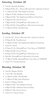 halloween television show schedule the typical mom
