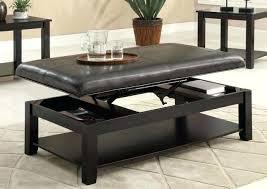 Tray Top Storage Ottoman Ottoman Coffee Table Tray U2013 Thewaiverwire Co